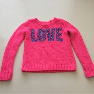 Justice Girls Pink Love Sweater Animal Print 7